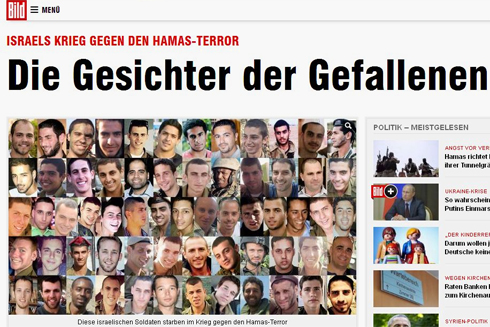 'Faces of the fallen,' featured on Bild newspaper