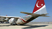 Turkish Air Force plane at Ben Gurion Airport Photo: IAA