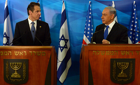 Prime Minister Benjamin Netanyau with New York Governor Dan Cuomo just before his comments on the HRC investigation. (Photo: GPO) Photo: GPO