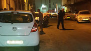 The murder scene at Florentin neighborhood in Tel Aviv