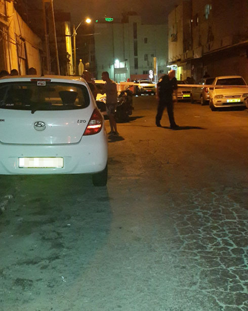 The murder scene in Florentin neighborhood in south Tel Aviv