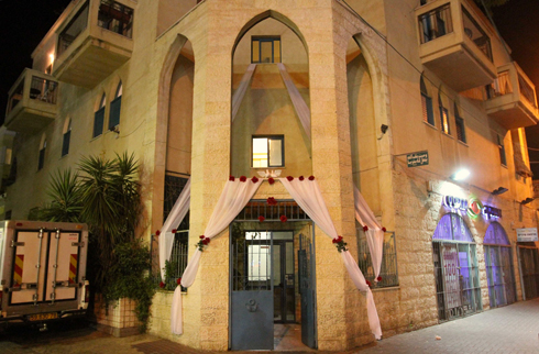 Wedding decorations of Mahmoud Mansour's house in Jaffa (Photo: Ido Erez)  (Photo: Ido Erez)