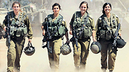 The four paramedics that served in Gaza during Operation Protective Edge Photo: Gadi Kablo, Yedioth Aharonoth