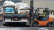 Goods being brought into the Gaza Strip Photo: IDF Spokesman