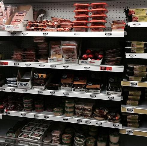 Kosher food shelves restocked (Photo: Colin Appleby on Twitter)