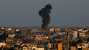 Strikes in Gaza Photo: AP