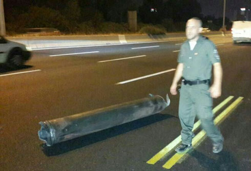 Rocket shrapnel found near Beit Dagan.