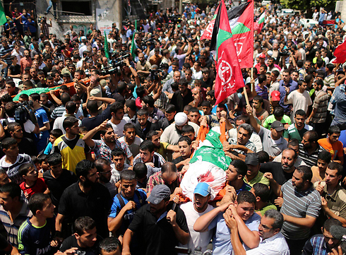 The funeral of Deif's wife and son (Photo: Reuters)