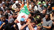 Gaza funeral of Mohammed Deif's wife and son Photo: Reuters