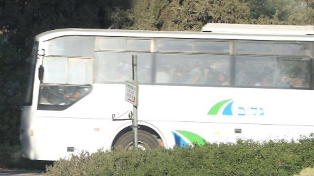 Buses leaving Eshkol Regional Council (Photo: Motti Kimchi)