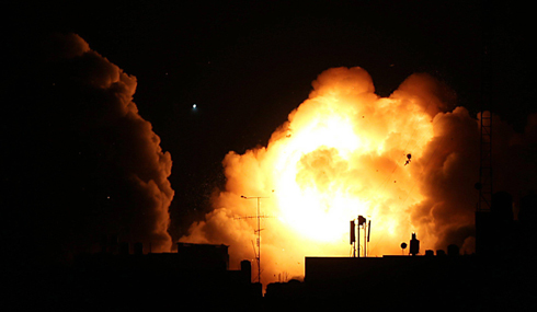 IAF strike on Gaza on Friday night (Photo: EPA) Photo: EPA