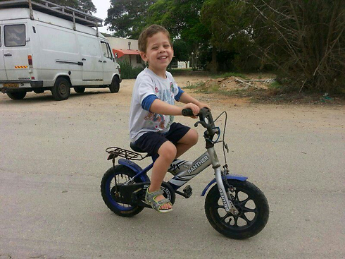 Four-year-old Daniel Tregerman who was killed from mortar hit while running for shelter.