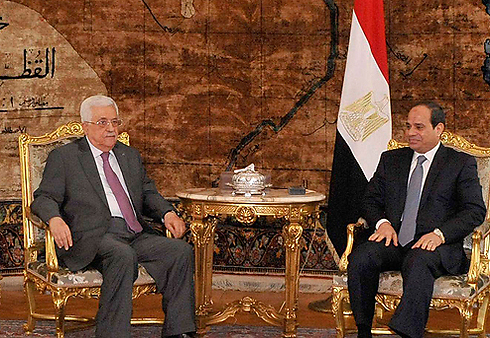 Palestinian President Mahamoud Abbas and Egyptian President Abdel Fattah al-Sisi (Reuters) (Photo: Reuters)