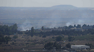 Smoke over rises from Quneitra crossing Photo: Avihu Shapira