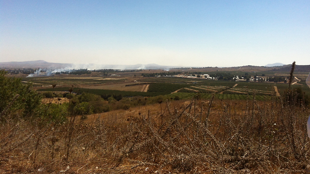 Fighting not far from Israeli border (Photo: Josh Bakon)