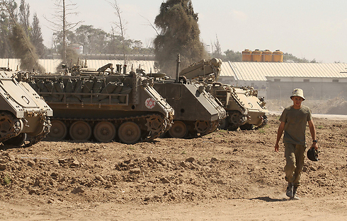 IDF forces withdrawing from Gaza Strip (Photo: Ido Erez) Photo: Ido Erez