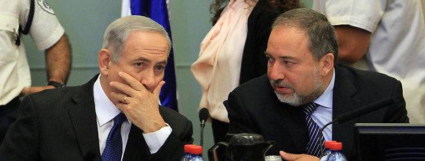 Former harmony: Netanyahu and Lieberman in 2013 (Photo: Gil Yohanan)
