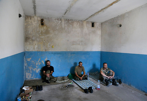 Pro-Russian rebels captured by Ukrainian troops during combat. (Photo: AP) (Photo: AP)