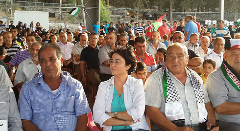 Haneen Zoabi at the pro-Palestinian festival. (Photo: Hassan Shaalan) Photo: Hassan Shaalan