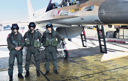 IAF pilots A., B., and D.: The target is verified ten times. (Photo: Nahum Barnea) (Photo: Nahum Barnea)