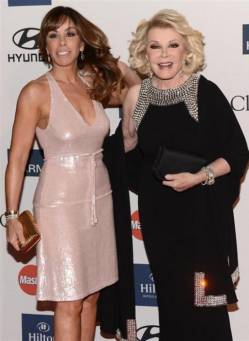 Joan Rivers with daughter Melissa. (Photo: AFP) Photo: AFP
