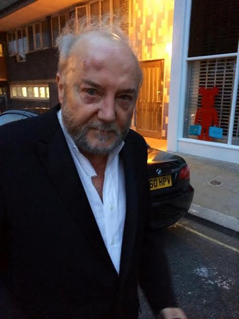 Galloway following assault in photo posted on Twitter by the Respect party. (Photograph: @ukrespectparty/Twitter/PA)