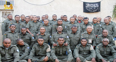 Fijian UN peacekeepers held by the rebels.