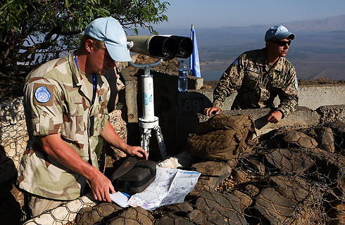 UN peacekeepers on the Golan Heights (Photo: EPA)