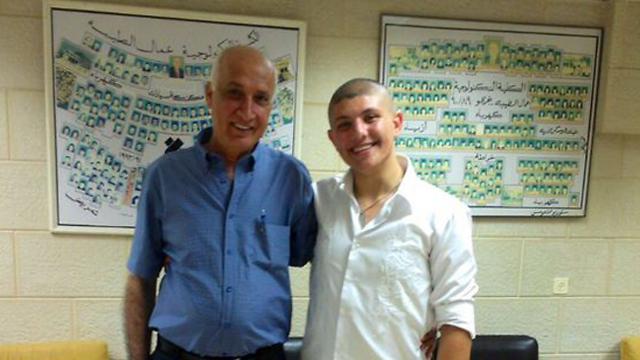 Mahmad Jabali with the murdered headmaster, Haj Yachieh.