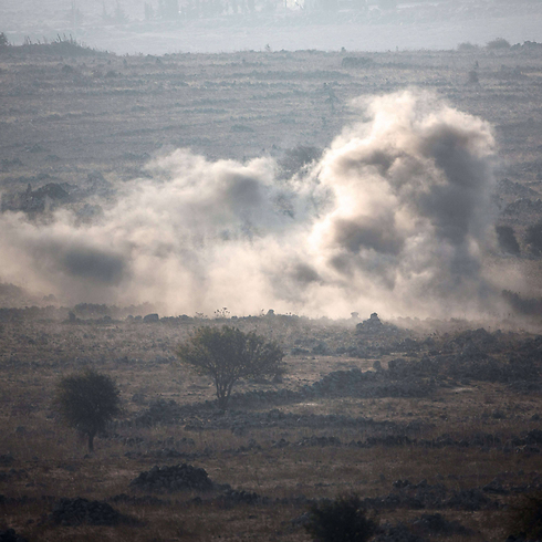 Smoke rises from heavy fighting near the Syria-Israel border. (Photo: AFP) (Photo: AFP)