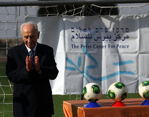Former president Shimon Peres at ceremony (Photo: Roi Idan)