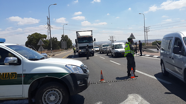 Possible terror attack - searches underway (Photo: Ra'anan Ben-Zur)