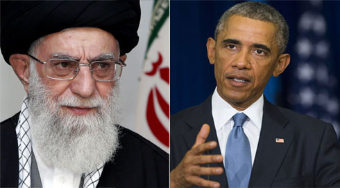 Working together? Iran's Supreme Leader Ayatollah Khamenei and US President Obama.