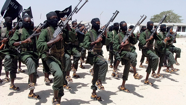 Al-Shabaab militants in Somalia. (Photo: AP)