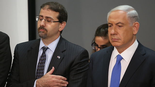 Netanyahu and US Ambassador to Israel Shapiro (Photo: Motti Kimchi)