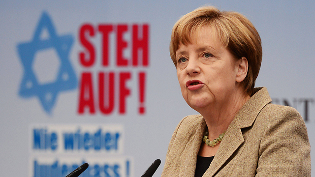 Angela Merkel at a rally against anti-Semitism in Berlin in September (Photo: AFP)