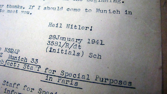 Translation of Nazi letter (Photo: AP)