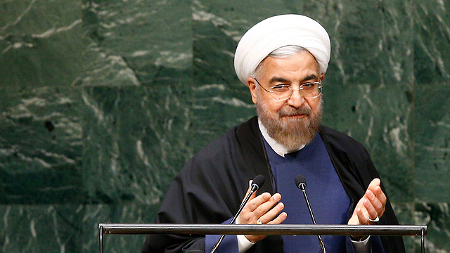 Rouhani speaking at the UN General Assembly (Photo: EPA)