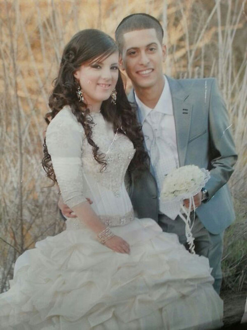 Netanel Arami and wife Muriya on their wedding day.