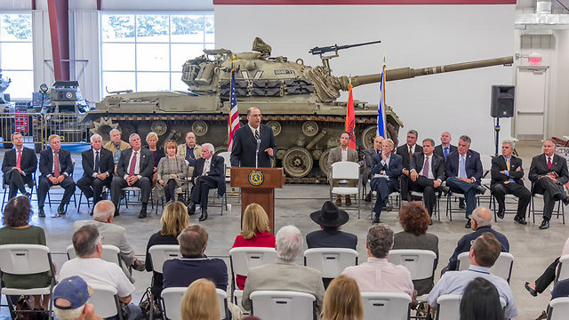Dedication ceremony in Long Island (Photo courtesy of Museum of American Armor)