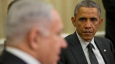 """רה""""מ נתניהו והנשיא אובמה הלילה בוושינגטון (צילום: AFP)"""