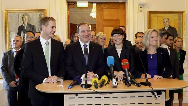 The new center-left Swedish government (Photo: AP)