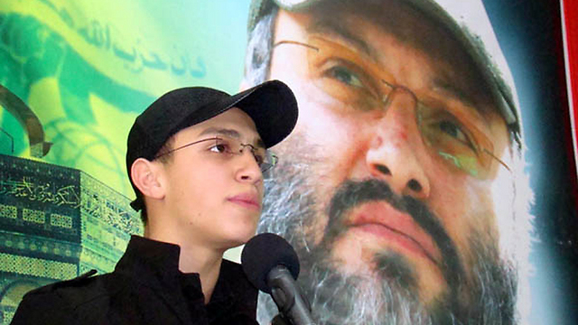Jihad Mughniyeh at memorial service for his father
