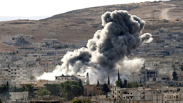 Airstrikes on Kobani (Photo: Gettyimages)