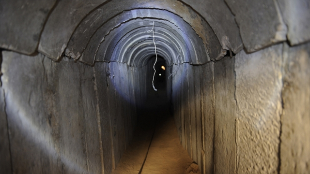 Picture of tunnel featured in Hamas newspaper during Operation Protective Edge.
