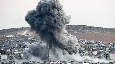 US hits Kobani (Photo: Getty)