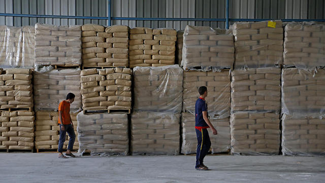 Construction supplies in Gaza (Photo: AP)