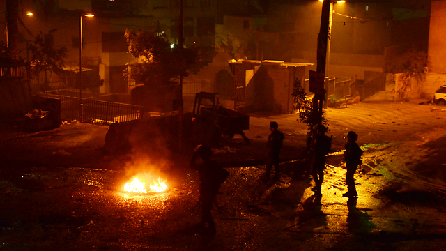 Clashes in Silwan on Thursday night (Photo: Mohammed Shinawi)