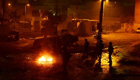 עימותים בסילוואן, הערב. צילום: מוחמד שינאווי