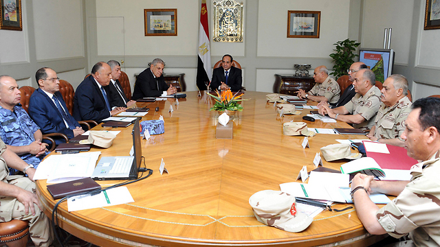Egyptian President al-Sisi meeting with National Defense Council (Photo: AFP)